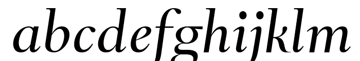 RomainHeadline RegularItalic WebXL Font LOWERCASE