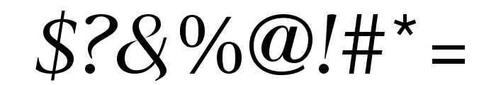 SangBleuSans RegularItalic WebXL Font OTHER CHARS