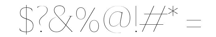 SangBleuSerif Hairline WebXL Font OTHER CHARS