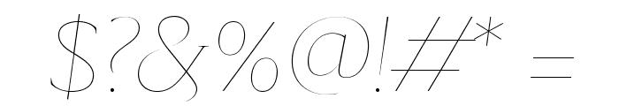 SangBleuSerif HairlineItalic WebXL Font OTHER CHARS