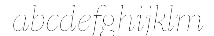 SangBleuSerif HairlineItalic WebXL Font LOWERCASE