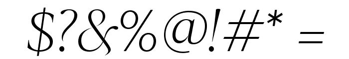 SangBleuSerif LightItalic WebXL Font OTHER CHARS