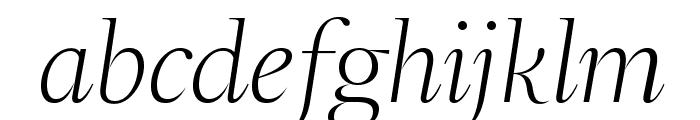 SangBleuSerif LightItalic WebXL Font LOWERCASE