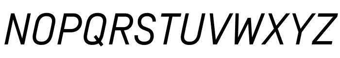SimplonNorm RegularItalic WebXL Font UPPERCASE