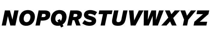 SuisseIntl BlackItalic WebXL Font UPPERCASE