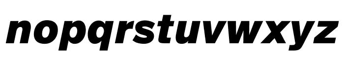 SuisseIntl BlackItalic WebXL Font LOWERCASE
