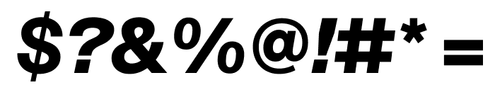 SuisseIntl BoldItalic WebXL Font OTHER CHARS