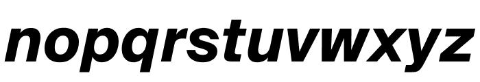 SuisseIntl BoldItalic WebXL Font LOWERCASE