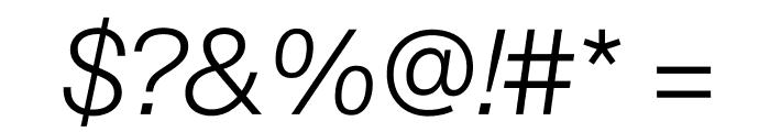 SuisseIntl LightItalic WebXL Font OTHER CHARS