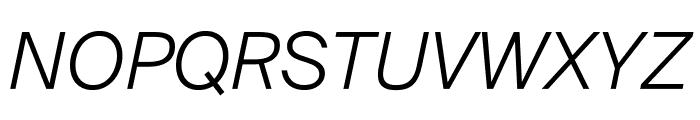 SuisseIntl LightItalic WebXL Font UPPERCASE
