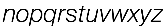 SuisseIntl LightItalic WebXL Font LOWERCASE