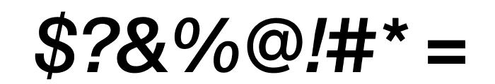 SuisseIntl MediumItalic WebXL Font OTHER CHARS