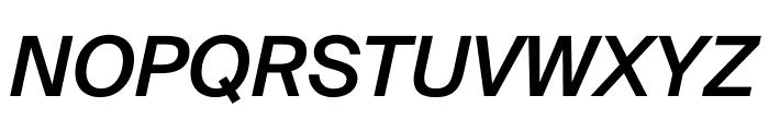 SuisseIntl MediumItalic WebXL Font UPPERCASE