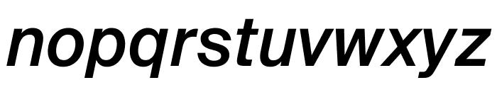 SuisseIntl MediumItalic WebXL Font LOWERCASE