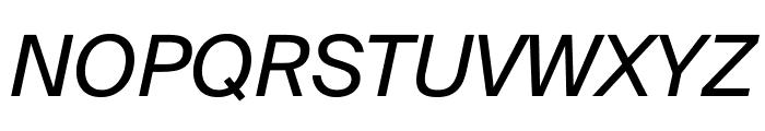 SuisseIntl RegularItalic WebXL Font UPPERCASE