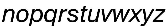 SuisseIntl RegularItalic WebXL Font LOWERCASE