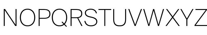 SuisseIntl Thin WebXL Font UPPERCASE