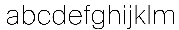 SuisseIntl Thin WebXL Font LOWERCASE