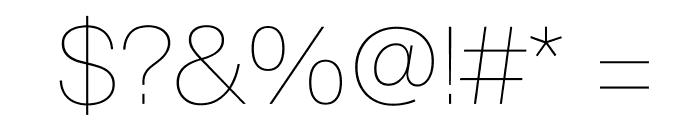 SuisseIntl Ultralight WebXL Font OTHER CHARS