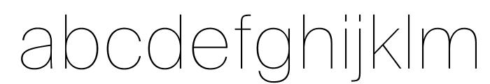 SuisseIntl Ultralight WebXL Font LOWERCASE