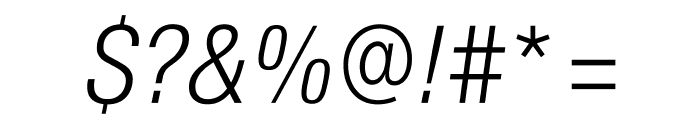 SuisseIntlCond LightItalic WebXL Font OTHER CHARS