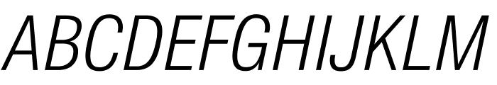 SuisseIntlCond LightItalic WebXL Font UPPERCASE