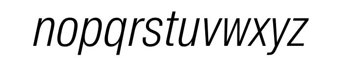 SuisseIntlCond LightItalic WebXL Font LOWERCASE