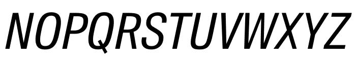 SuisseIntlCond RegularItalic WebXL Font UPPERCASE