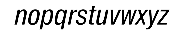 SuisseIntlCond RegularItalic WebXL Font LOWERCASE