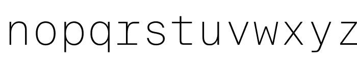 SuisseIntlMono Thin WebXL Font LOWERCASE
