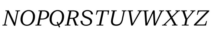 SuisseNeue LightItalic WebXL Font UPPERCASE