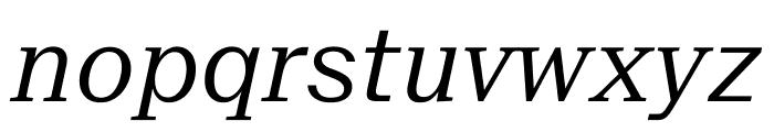 SuisseNeue LightItalic WebXL Font LOWERCASE