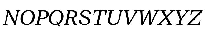 SuisseNeue RegularItalic WebXL Font UPPERCASE