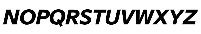SuisseSign BoldItalic WebXL Font UPPERCASE