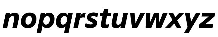 SuisseSign BoldItalic WebXL Font LOWERCASE