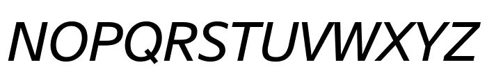 SuisseSign RegularItalic WebXL Font UPPERCASE