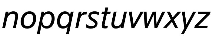 SuisseSign RegularItalic WebXL Font LOWERCASE