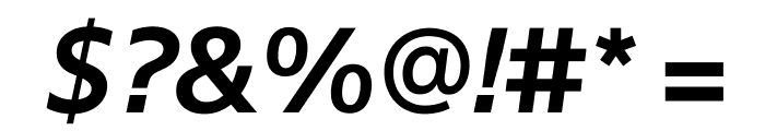 SuisseSign SemiBoldItalic WebXL Font OTHER CHARS