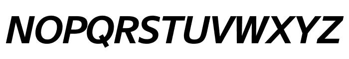 SuisseSign SemiBoldItalic WebXL Font UPPERCASE