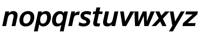 SuisseSign SemiBoldItalic WebXL Font LOWERCASE