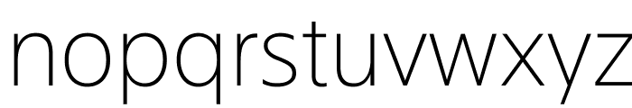 SuisseSign Thin WebXL Font LOWERCASE