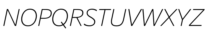 SuisseSign ThinItalic WebXL Font UPPERCASE