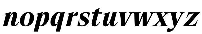 SuisseWorks BoldItalic WebXL Font LOWERCASE