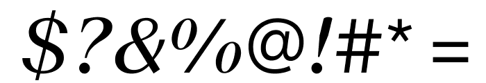 SuisseWorks BookItalic WebXL Font OTHER CHARS