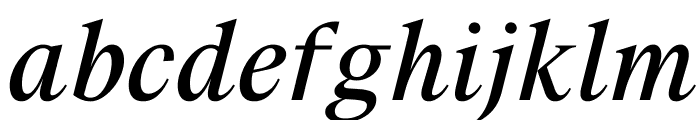 SuisseWorks BookItalic WebXL Font LOWERCASE