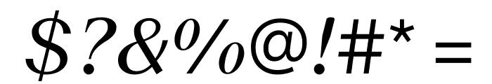 SuisseWorks RegularItalic WebXL Font OTHER CHARS