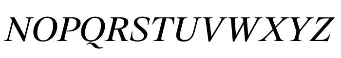 SuisseWorks RegularItalic WebXL Font UPPERCASE