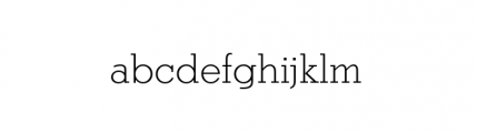 Stymie Light Font LOWERCASE