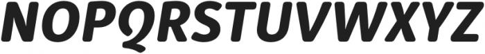 Submariner R24 Extra Bold Italic otf (700) Font UPPERCASE