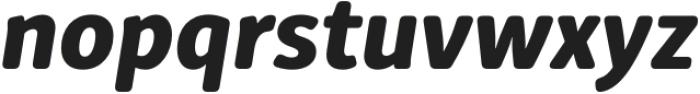 Submariner R24 Extra Bold Italic otf (700) Font LOWERCASE